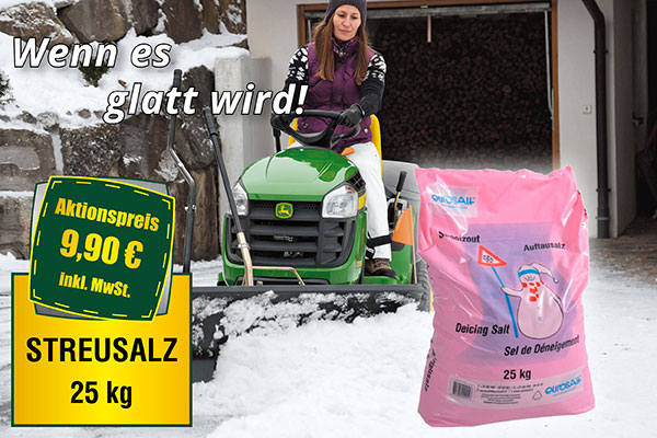 AKTION: 25 kg Streusalz für unter 10 Euro