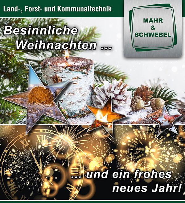 Besinnliche Weihnachten und ein frohes neues Jahr