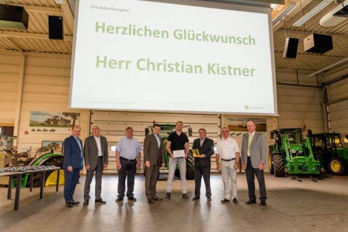 Wir gratulieren Christian Kistner zur bestandenen Servicetechnikerprüfung !!!