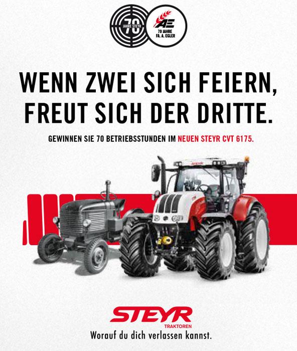 Gewinnen Sie 70 Betriebsstunden im neuen Steyr CVT 6175