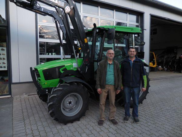 Deutz-Fahr 5070 D Keyline an die Familie Hofmann aus Gößmannsberg übergeben