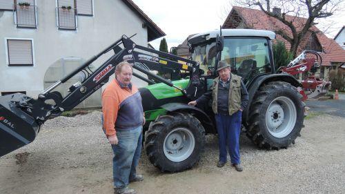 Deutz-Fahr Agroplus 410 ausgeliefert an die Familie Distler in Siegritz