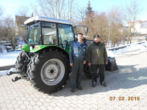 Deutz-Fahr Agrolux 310 ausgeliefert an die Familie Blank in Tüchersfeld