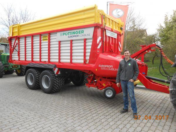 Pöttinger Europrofi 5010 Combiline an Fam. Ziegler aus Wallenbrunn übergeben