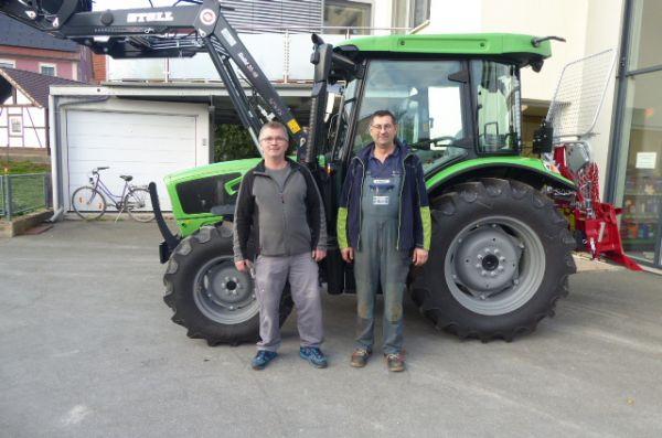 Deutz-Fahr 5070 D Keyline an die Familie Rost aus Hollfeld übergeben