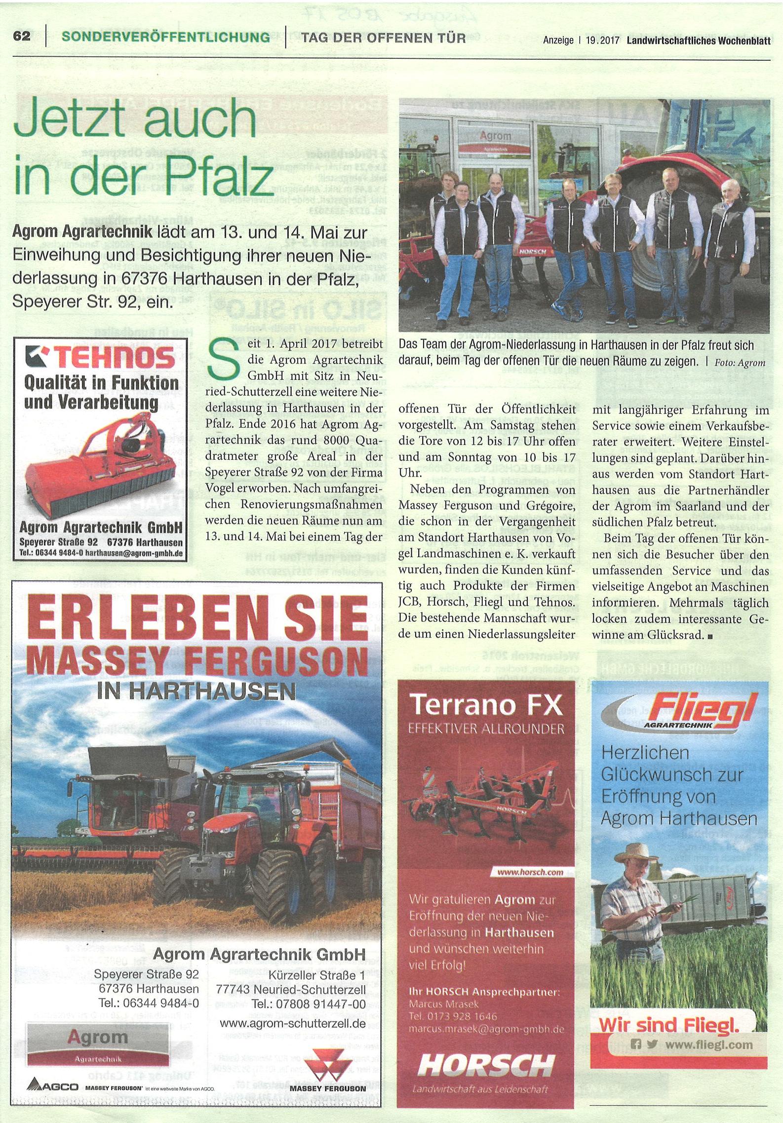 Neueröffnung Harthausen am 13. und 14. Mai 2017