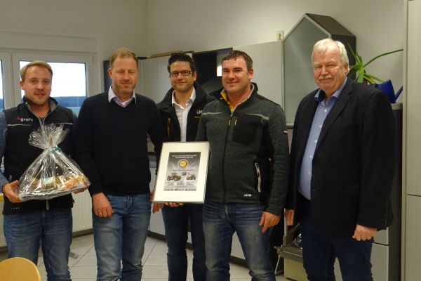 Urkunde von JCB Deutschland GmbH als Beste Serviceleistung erhalten