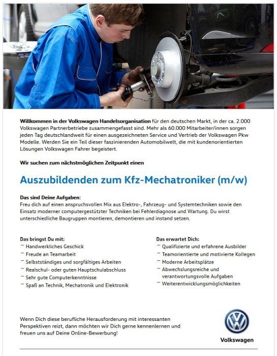 Ausbildung zum Kfz-Mechatroniker