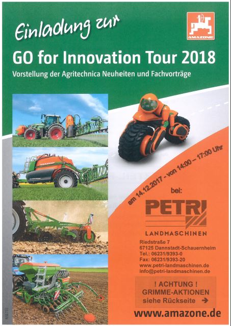 Einladung zur AMAZONE GO for Innovation Tour