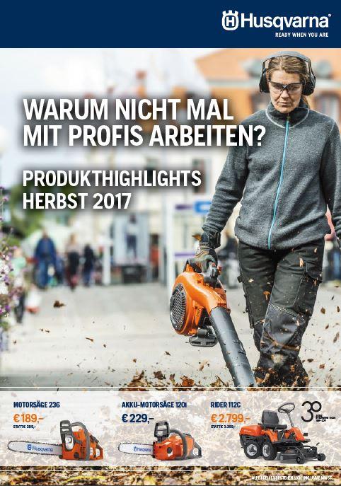 Husqvarna Herbstbroschüre 2017
