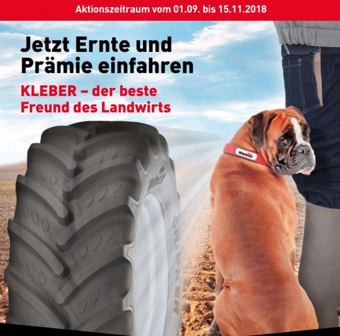 KLEBER Reifen: Jetzt Ernte und Prämie einfahren