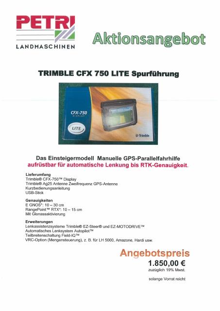 TRIMBLE CFX 750 LITE Spurführung
