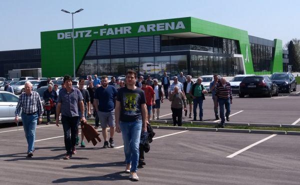 Besuch der DEUTZ-FAHR Fabrik in Lauingen