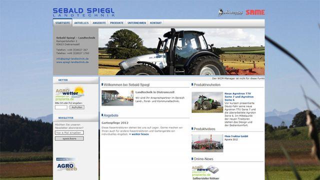 Neuer Webauftritt der Firma Spiegl