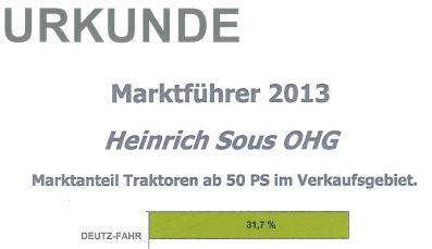 SDF Urkunde 2013