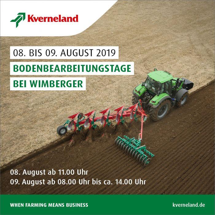 Bodenbearbeitungstage vom 08. bis 09. August 2019