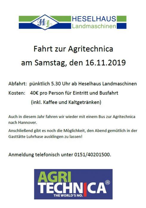 Fahrt zur Agritechnica