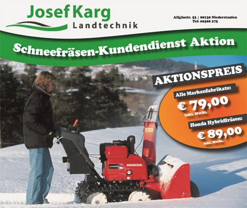 Schneefräsen-Kundendienst Aktion
