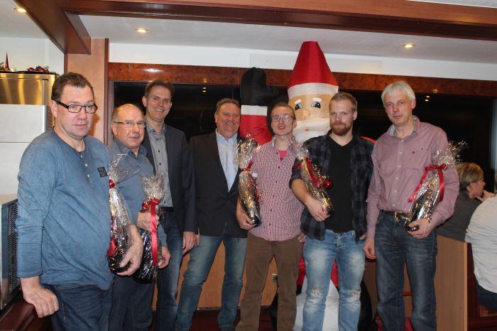 Weihnachtsfeier mit Mitarbeiterehrung