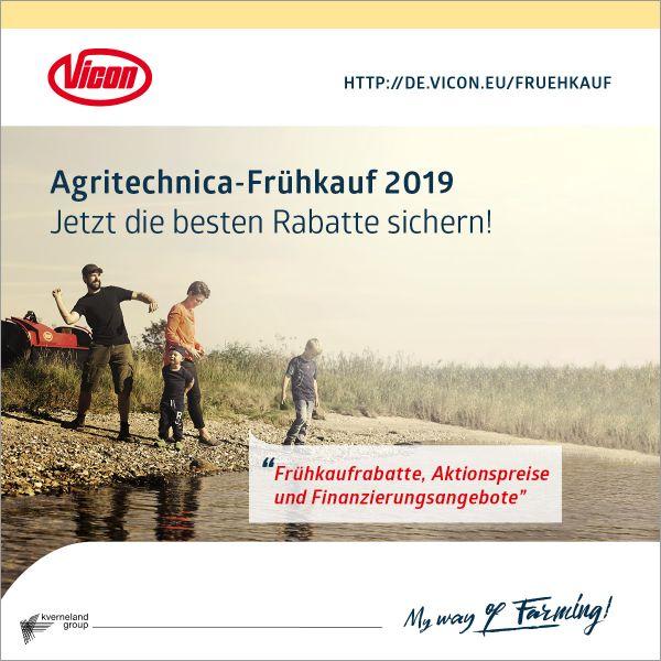 Vicon Agritechnica-Frühkauf 2019