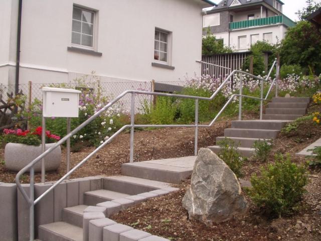 Geländer für Gartentreppe
