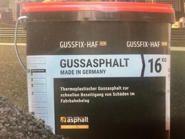 GUSSFIX-HAF Reparieren Sie ohne großen Aufwand Ihre Asphaltflächen