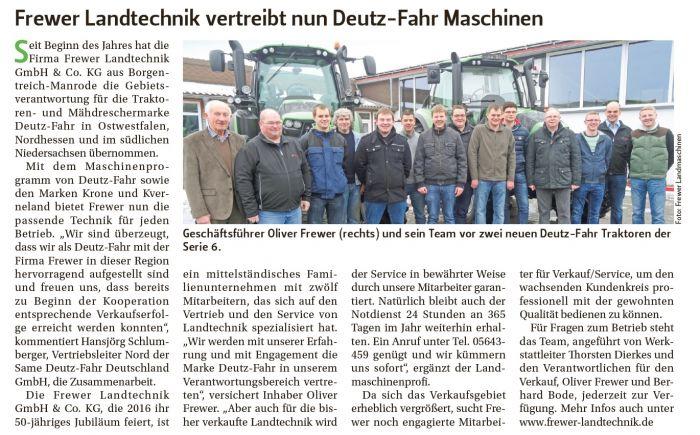 Frewer Landtechnik u. Deutz-Fahr