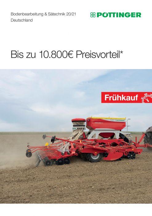 Pöttinger Bodenbearbeitung Frühbezugaktion 2020