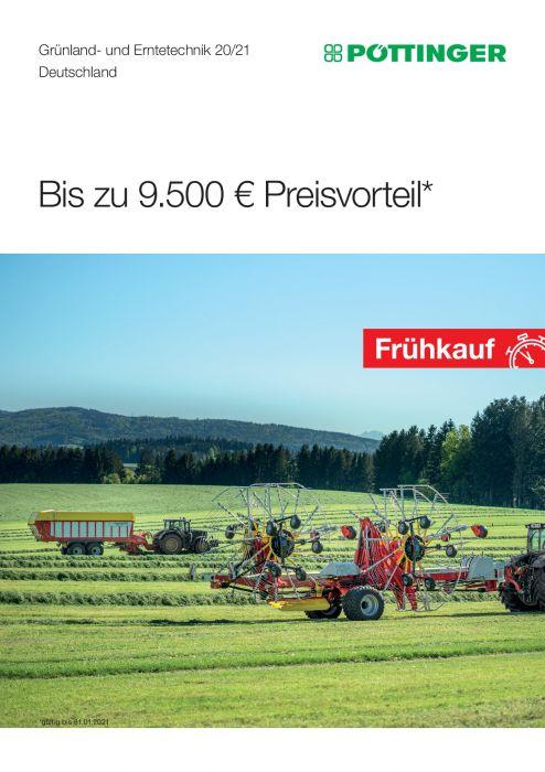 Pöttinger Grünland Frühbezugaktion 2020