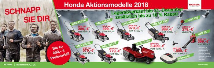 Lagerabverkauf HONDA Motorgeräte bis 21. Dezember